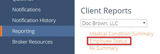 employee status report